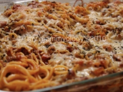 My Mommyology Baked Spaghetti